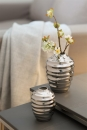Fink MOJO Vase,silber,Porzellan  Höhe 13 cm, Ø 10cm 127011
