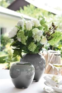Fink LOSONE Vase,opal grau  Höhe 20cm, Ø 20cm 115002