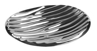 Fink JULA Vase,silberfarb.,Porzellan  Höhe 13,2cm 127033