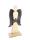 """Gilde Engel """"Angela"""" mit Stern Holzdesign, mit dunkelbraunen Metall-Flügeln und Stern L=13,0 cm B= 33,5 cm H= 74,0 cm 23506"""