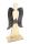 """Gilde Engel """"Angela"""" mit Stern Holzdesign, mit dunkelbraunen Metall-Flügeln und Stern L=14,0 cm B= 41,0 cm H= 91,0 cm 23507"""