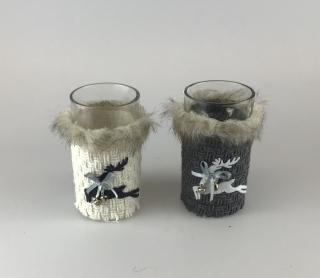 Gilde Deko Windlicht Nordkap Textil
