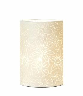 Ovale Lampe Prickel Fassung E 14 max. 40 Watt L= 11,0 cm B= 20,0 cm H= 35,0 cm