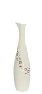 """Gilde Flaschenvase """"Soffione"""" beige/braun L= 10,0 cm B= 10,0 cm H= 40,5 cm 33356"""