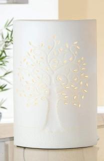 Gilde Lampe Lebensbaum weiss Fassung E 14 max. 40 Watt 34779