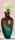 """Gilde GlasArt Flaschenvase """"Curl"""" braun, türkis mundgeblasen und durchgefärbt Länge 19,0 cm Breite 19,0 cm Höhe 40,5 cm 39023"""