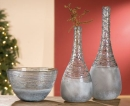 Gilde Glasart Flaschenvase Spiraglio 39179 51 cm