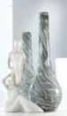 Gilde Glas Halsvase Höhe 60 cm