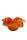 """Gilde GlasArt Design-Schale """"Sienna""""   durchgefärbt und mundgeblasen,  rot/schwarz/sandfarben,  innen rot  Höhe 18,0 cm Durchm. 40,0 cm 39664"""