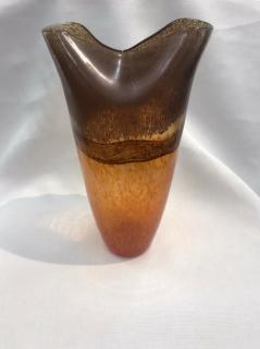 Gilde Glas Ovalvase Arancia Höhe 35 cm