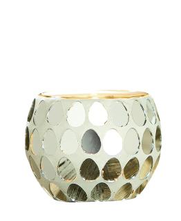 Gilde Glas Windlicht Punti Spiegel