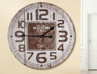 "Gilde Wanduhr ""Old Town Clocks"" creme/braun, Holzdesign Länge 4,5 cm Durchm. 60,0 cm 42272"
