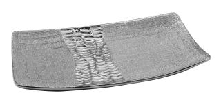 "Gilde Schale ""Splendor"" silber Länge 18,0 cm Breite 30,0 cm Höhe 4,0 cm 43792"