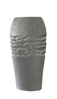 """Gilde Vase """"Splendor"""" silber Länge 12,5 cm Breite 16,0 cm Höhe 32,5 cm 43794"""