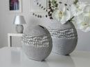 """Gilde Runde Vase """"Splendor"""" silber Länge 7,5 cm Breite 25,5 cm Höhe 25,0 cm 43798"""