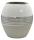 Gilde Vase  Brazil  oval weiß silber creme L= 10,0 cm B= 19,5 cm H= 21,5 cm 43939