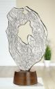 "Gilde Skulptur ""Volante"" Skulptur aus Aluminium, Sockel aus Mangoholz Breite 31,0 cm Höhe 48,0 cm 48266"