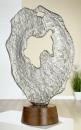 "Gilde Skulptur ""Volante"" Skulptur aus Aluminium, Sockel aus Mangoholz Breite 39,0 cm Höhe 57,0 cm 48267"