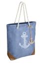 """Gilde Tasche """"Anker"""" blau/weiß/braun, mit..."""