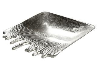 """Gilde Schale """"Fuego"""" silber nicht lebensmittelgeeignet Länge 27,5 cm Breite 27,5 cm 48991"""