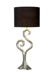 """Gilde Lampe """"Luma"""" aus Aluminium Fassung E 27 max. 40 Watt L= 14,0 cm H= 92,0 cm Ø 38,5 cm 48996"""