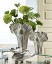 Gilde Vase  Ginkgo  silber, nicht wasserdicht L= 13,0 cm B= 24,0 cm H= 32,0 cm 60330