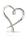 Gilde Herz auf Marmor Base silber, Base weiß L= 8,0 cm B= 24,0 cm H= 33,0 cm 60469