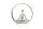 Gilde Yoga Figur im Ring auf Marmor Base silber, Base weiß L= 10,0 cm B= 28,0 cm H= 29,5 cm 60473