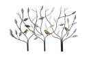 Gilde Baum-Relief 3 Bäume mit Vögeln braun mit...