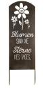 """Gilde Gartenstecker Weisheit """"Blumen"""" mit..."""
