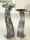 """Schalenständer Welle """"Ranke"""" antik grau, bestehend aus Ständer und Schale, mit Edelstahlkugel D 3,5 cm H= 114,0 cm Durchm. 50,0 cm"""