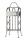 """Gilde 3er Weinflaschenhalter """"VINO"""" grau metallic, pulverbeschichtet, mit Tragegriff H= 43,0 cm 68913"""
