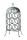 """Gilde 6er Weinflaschenhalter """"VINO"""" (Mitte) grau metallic, pulverbeschichtet, mit Tragegriff H= 52,0 cm 68914"""