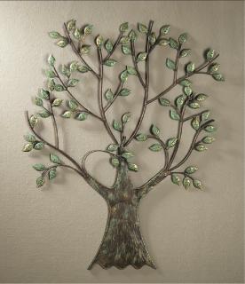 Gilde Metall Baum Wandrelief 69748