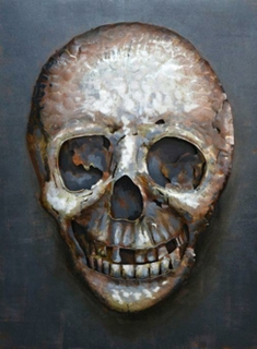 Gilde Metall Bild Heavy Metal 100 x 75 cm Totenkopf