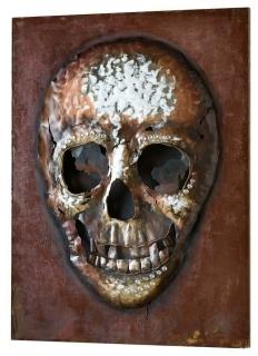Gilde Metall Bild Heavy Metal Totenkopf 100 x 75 cm