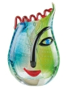 "Gilde GlasArt Design-Vase ""Vero"" grün,..."