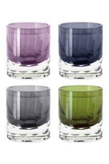 Fink DENA Vase,Glas,braun,schwarz,luster  Höhe 17cm, Ø 16cm 115015