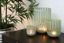Fink RUBIO Vase,Windlicht,Glas,grau 23x12,5x25cm 115046