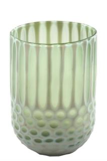 Fink Rima Glasvase,Hellgrün  Durchmesser 18  cm ,Höhe 25  cm  115048
