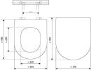 Renova WC-Sitz m.D. abnehmbar  Keramag WC-Sitz Renova Nr.1 mit Deckel