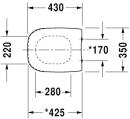 D-Code WC-Sitz m.Deckel        DURAVIT D-Code WC-Sitz aus...
