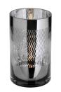 Fink Linio Teelichthalter,Glas,Schw.,Wellen 20X12  cm...