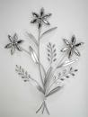 Formano Wanddeko 68cm   Blume silber   673572