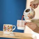 Gilde Porzellan Tea for two Blütenblätter  in...