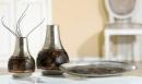 Gilde Alu Vase mit Glasmosaik 65638