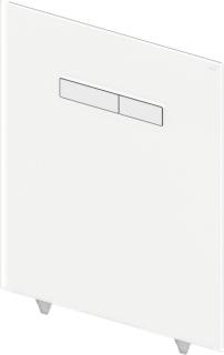 """TECElux Abdeckplatte 2-Mg.     Glas weiss / Taste w Obere Bet""""tigungsglasplatte fr TECElux-Terminal mit 2 gefederten Bet""""tigungstasten. Inkl. Bet""""tigungsstangen und Befestigungsmaterial. Montage nur in Verbindung mit der unteren WC-Glasplatte. 430 x 555"""