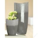 Gilde Keramik Ovalvase Crackle Höhe 25 cm