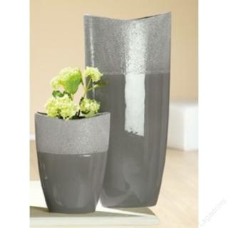 Gilde Keramik Ovalvase Crackle Höhe 50 cm