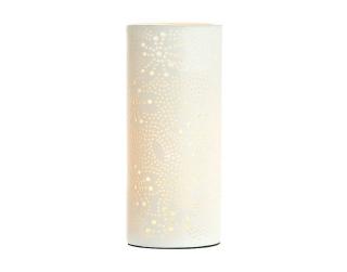 Gilde Porzellan Prickellampe Milchstrasse  weiss, rund E14 Max 40 W/Angebot reg.17,60    Höhe 28 cm Ø 12 cm 33973